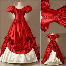 Red Vintage Lolita dress/ victorian party cosplay costumes/Civil War Gown Ball
