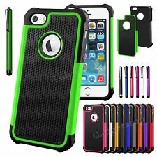 PC Shockproof Dirt Dust Proof Hard Matte Cover Case For iPhone 5 5S +Screen Film