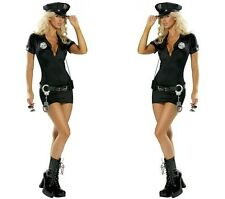 Sexy Officer Payne Police Cop Outfit Catsuit Adult Halloween Costume Cosplay