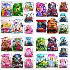 Disney Cartoon Drawstring Backpack Handbags school bags 60kinds