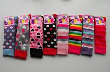 Girls Thick Knee High Wellie Welly Wellington Boot Socks Sox 8 designs