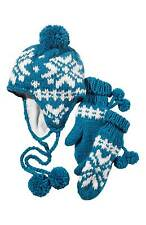 Womens Winter Knitted Hat and Mittens Set Warm Thermal One size fits all