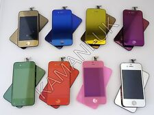 MIRROR COLOUR CONVERSION KIT For iPhone 4 4s Back Glass LCD Digitizer Screen OEM
