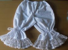 white cotton bloomers edged with lots of lace
