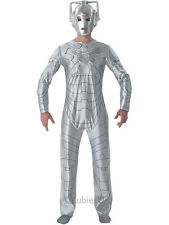 Adult Doctor Who Cyberman Outfit Fancy Dress Costume TV Sci Fi Robot Mens Gents
