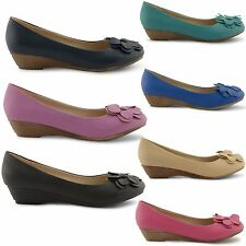 NEW STYLISH LADIES LOW HEEL BALLET DOLLY BALLERINA PUMPS SUMMER SHOES UK 3-8