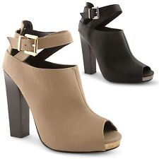 Womens Ladies Dolcis High Block Heel Platform Chelsea Ankle Boots Shoes Size 3-8