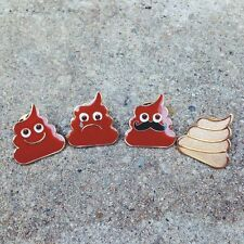 POO LAPEL PINS - happy poo emoji poop turd kawaii cute funny fart unko japan