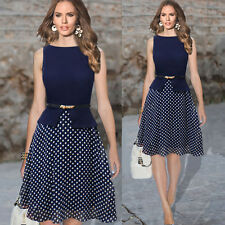 WOMENS DRESS SIZE 8 - 18 EVENING PARTY DRESSES OFFICE FORMAL WEDDING BLUE NEW