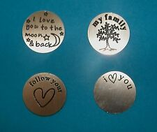 Large Locket Plates Living Charms Stainless Steel Family Love You to the Moon