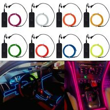 4 Size Flexible Neon Light Glow EL Wire Rope Cable Strip LED +Battery Conctoller