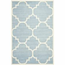 Safavieh Hand-Tufted Chatham BLUE / IVORY Wool Area Rugs - CHT730B