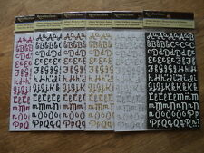 RECOLLECTIONS GLITTER ALPHABET STICKERS 6 DIFFERENT COLOURS TO CHOOSE FROM *NEW*