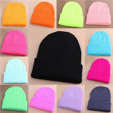 Winter Unisex Fashion Candy Color Hip-hop Ski Skull Cap Knit Hat Crochet Beanie