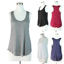 Plus Size Basic Long Tank Top Layer Solid Sleeveless Racer Back Casual 1X 2X 3X