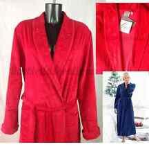 Womens Dressing Gown Beautiful Soft Velour Long Warm Red House Coat Lightweight