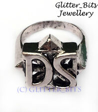 Vampire Diaries DAMON STEFAN Ring SALVATORE Family Crest Silver Punk Retro