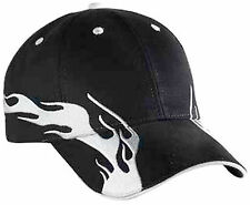 Flame Pattern Brushed Cotton Twill Sandwich Visor LowProfile ProStyle Cap 87-478