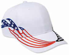 US Flag Racing Flame Pattern Brushed Cotton Twill Low Profile Cap 58-676