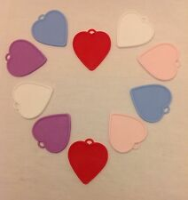 10 Heart Shaped Plastic Balloon Weights with a FREE reel of 20m Balloon Ribbon