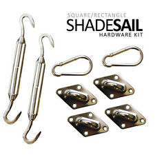 SUN SAIL SHADE HARDWARE KIT - CANOPY COVER - PATIO AWNING TURNBUCKLE/PADEYE/CLIP