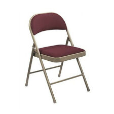 National Public Seating Commercialine Fabric Padded Folding Chair Set of 4
