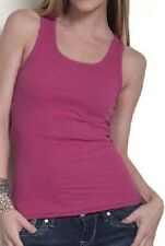 Women's 2x1 Ribbed Tank Top, Solid Colors