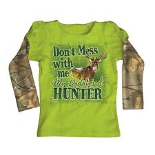 BUCK WEAR SHIRT - DON'T MESS WITH ME MY DADDY'S A HUNTER YOUTH TEE REALTREE CAMO