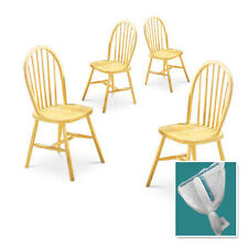 RK22 LIGHT HONEY OAK FINISH WOODEN SPINDLE BACK COUNTRY STYLE DINING CHAIRS SET
