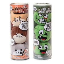 Zombies Heads or Hamsters Plush Juggling Balls With Sound In 1 Ball - Set of 3