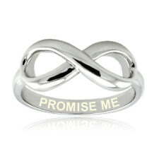 Women's Sterling Silver 925 Promise Me Infinity Wedding Ring