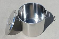 New Brew Kettle Stainless Steel Stock Pot w/ Lid. Home Brewing Mash Tun