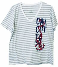 Calcutta Ladies Gray Striped Anchor 164358AGRYST