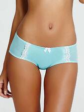Ann Summers Womens Aqua Satin Lace Short Sexy Panties Underwear Lingerie VH15
