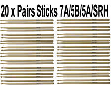 Multi Pack De 20 Tambor sticks-bulk buy-quality 2b/5b/7a Barata Par Baquetas
