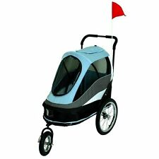 Petzip Happy Trailer Pet Dog Stroller in Red or Blue for pets up to 75 lbs
