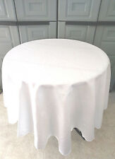 White Tablecloth in Oval,Square,Rectangular,Round, Napkins, many sizes