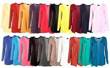 New Ladies Pocket Long Sleeve Cardigan Womens Top Size 8 10 12 14 16 18 20 *Crdg