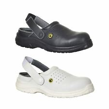 ESD Perforated Safety Clog Shoe Lightweight Work Boots Toe Cap Chef Baker FC03
