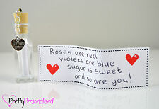 Christmas Day Personalised Message In a Bottle Romantic Present Gift For Her