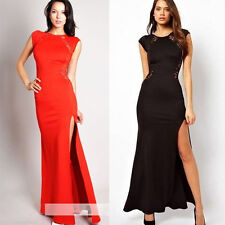 Elegant Womens Slim Long Maxi Lace Gown Evening Cocktail Party Formal Dress