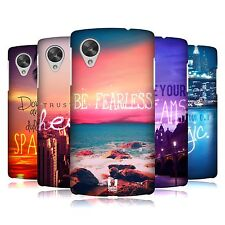 HEAD CASE DESIGNS WORDS TO LIVE BY SERIES 4 CASE FOR LG GOOGLE NEXUS 5 D821