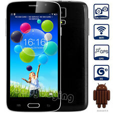 """Unlocked 5"""" 2Core/2Sim Android 4.4.2 GPS Smartphone 3G/GSM WCDMA Mobile Phone"""