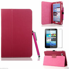 Flip LEATHER Stand Case Cover for SAMSUNG Galaxy TAB 2 17.8cm 17.8cm P3100 P3110