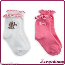 GENUINE DISNEY LADY SOCK SET FOR BABY 2 PACK LADY AND THE TRAMP
