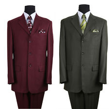 Men's  suit Polyester 3 button by Milano Moda Blue, Brown,Burgundy,Olive  5802M