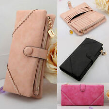 New New Womens Fashion Leather Wallet Button Clutch Purse Long Handbag Bag
