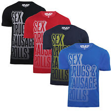 Mens T Shirt Xplicit Sex Drugs Sausage Rolls Rude Slogan Funny Novelty Top Tee