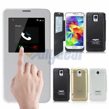 Samsung Galaxy S5 Extended Battery Backup Power Pack Charger Case Cover 4800mAh