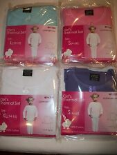 Girls THERMAL UNDERWEAR 2 pc Set Top & Bottom Size S M L XL 100% Cotton NWT